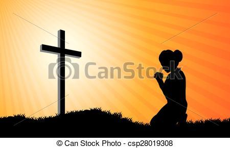 Kneeling at the cross clipart 2 » Clipart Portal.
