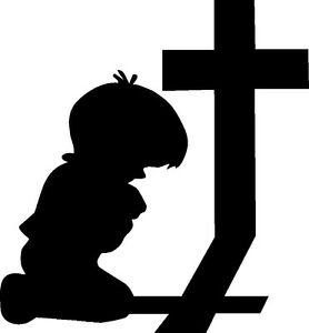 Details about Child Kneeling at Cross Never Forgotten Peace Religious  Freedom 3.5x5.