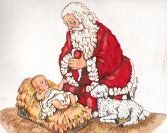 39 Best Santa Kneeling to Jesus images in 2018.