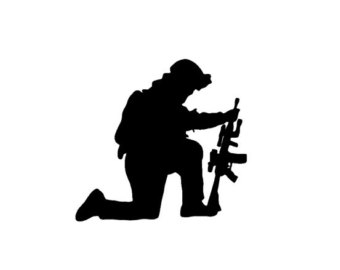 Free Soldier Kneeling In Prayer, Download Free Clip Art, Free Clip.
