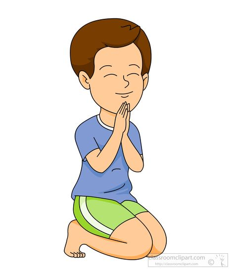 Praying on knees clipart.