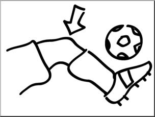 Clip Art: Basic Words: Knee B&W Unlabeled I abcteach.com.