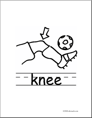 Black and White Knee Clipart.