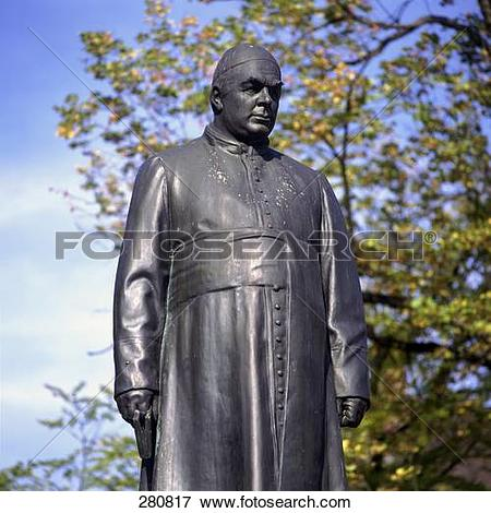 Picture of Low angle view of Father Sebastian Kneipp sculpture.