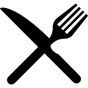 Clipart Plate Knife Fork.