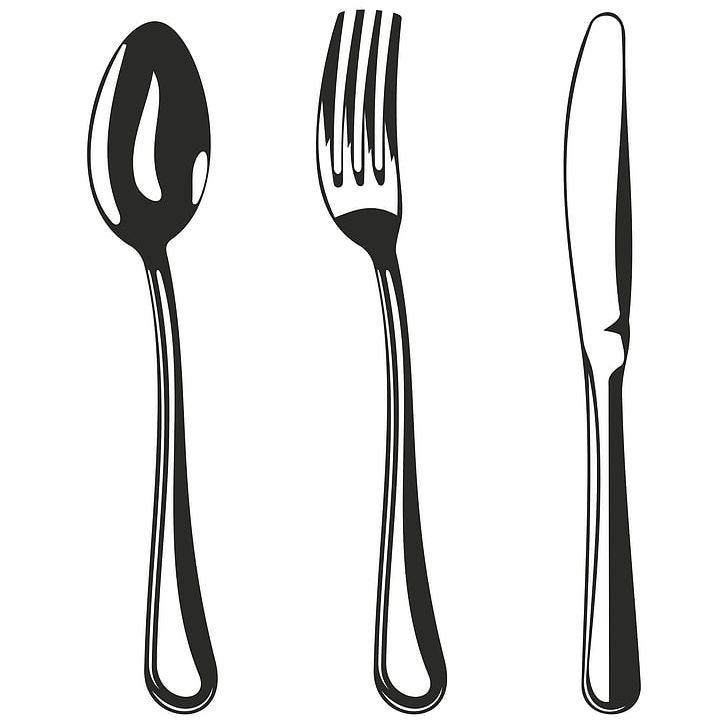 Knife Fork Spoon PNG, Clipart, Clip Art, Cutlery, Euclidean.