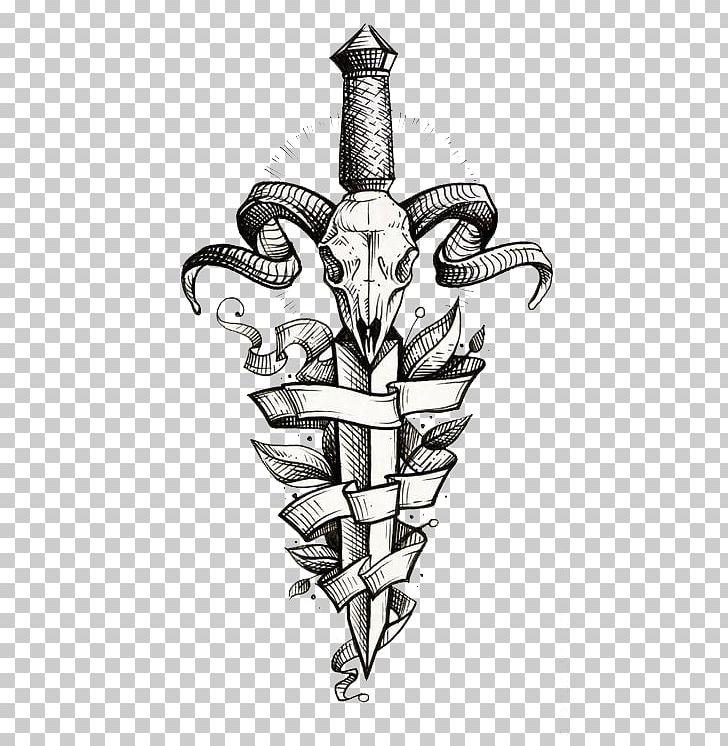 Knife Sleeve Tattoo Flash Dagger PNG, Clipart, Abziehtattoo, Art.
