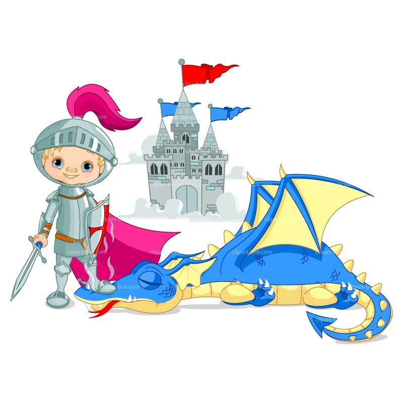 CLIPART KNIGHT BOY AND DRAGON.