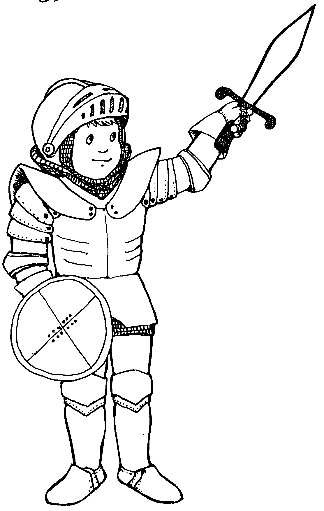 Knight clipart black and white 1 » Clipart Station.
