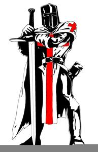Kneeling Knight Clipart.