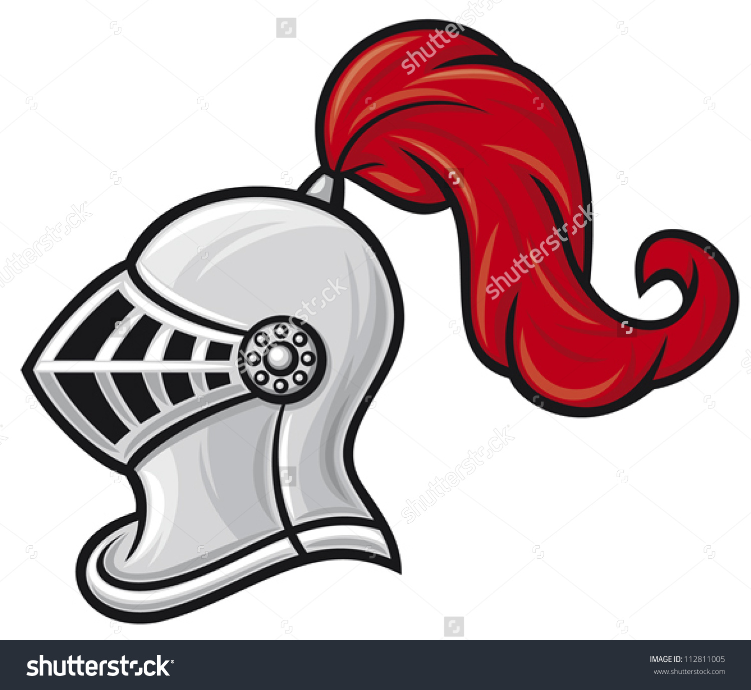 Medieval Knight Helmet Stock Vector 112811005.
