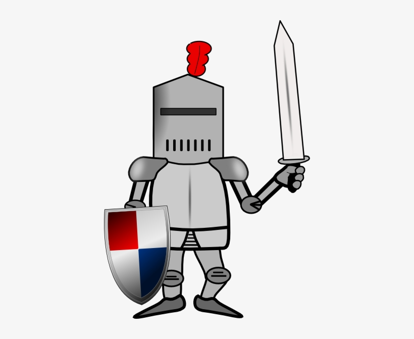 Knight In Armor With Shield And Sword Clip Art At Clker.