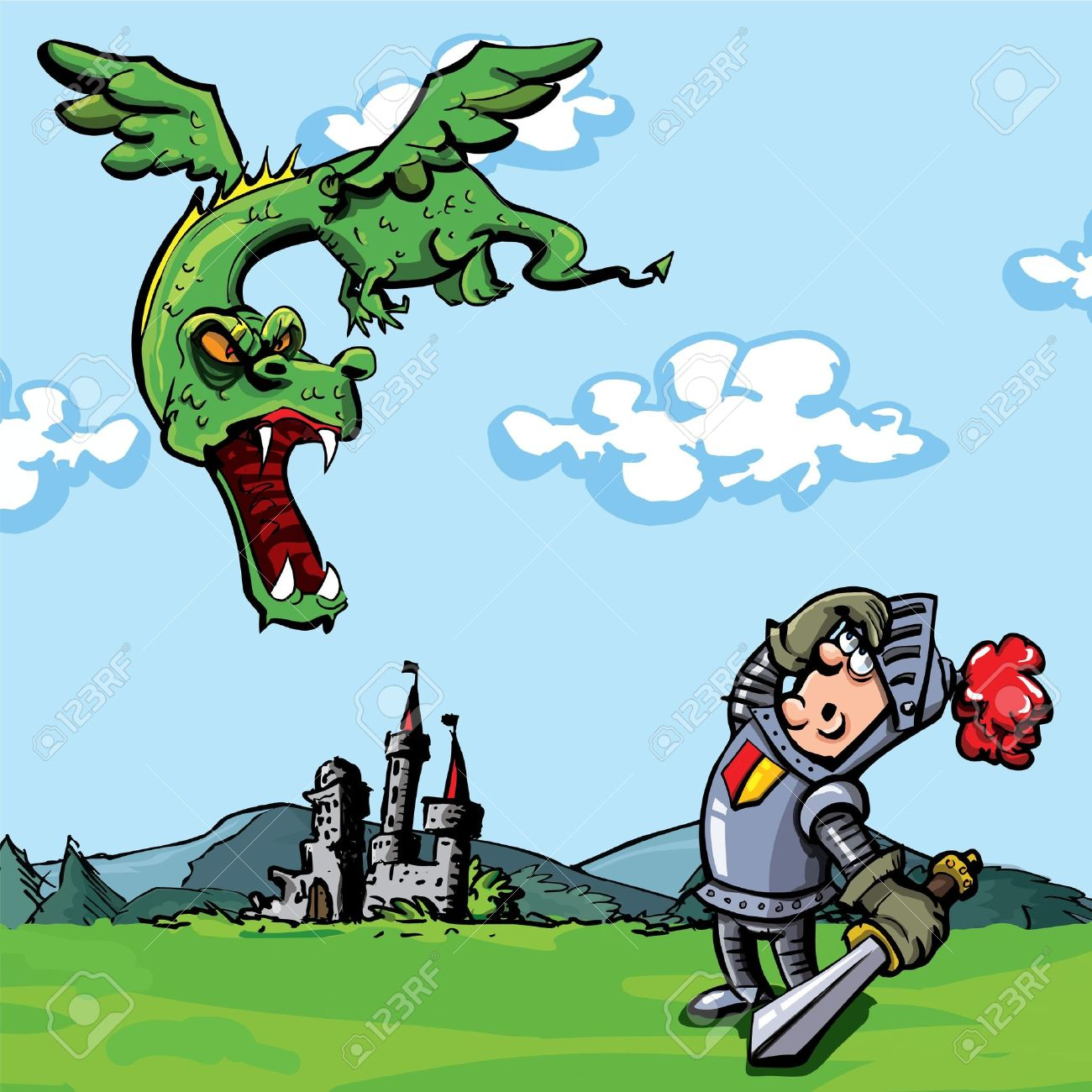 Knight And Dragon Clipart.
