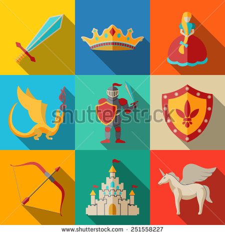 Knight Castle Stock Photos, Royalty.