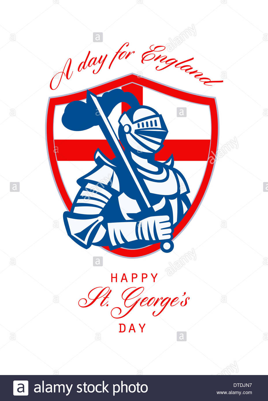 Poster Greeting Card Illustration Of Knight In Full Armor With.