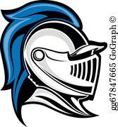 Medieval Knight Helmet Clip Art.