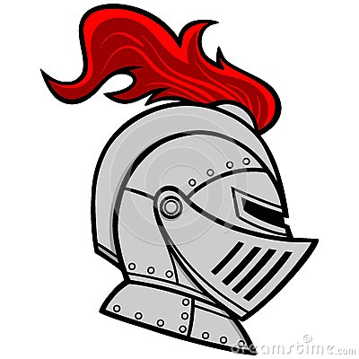 Knight Helmet Stock Vector.