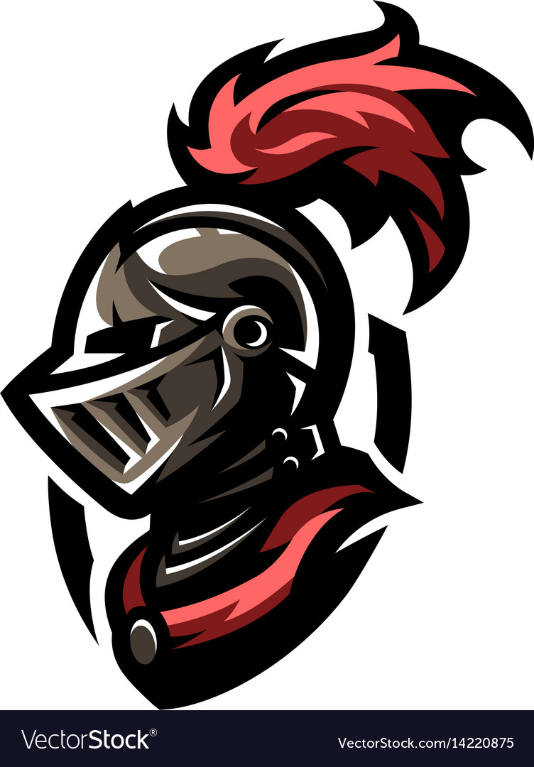 Medieval warrior knight in helmet.