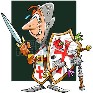cartoon knight in shining armor clipart. Royalty.