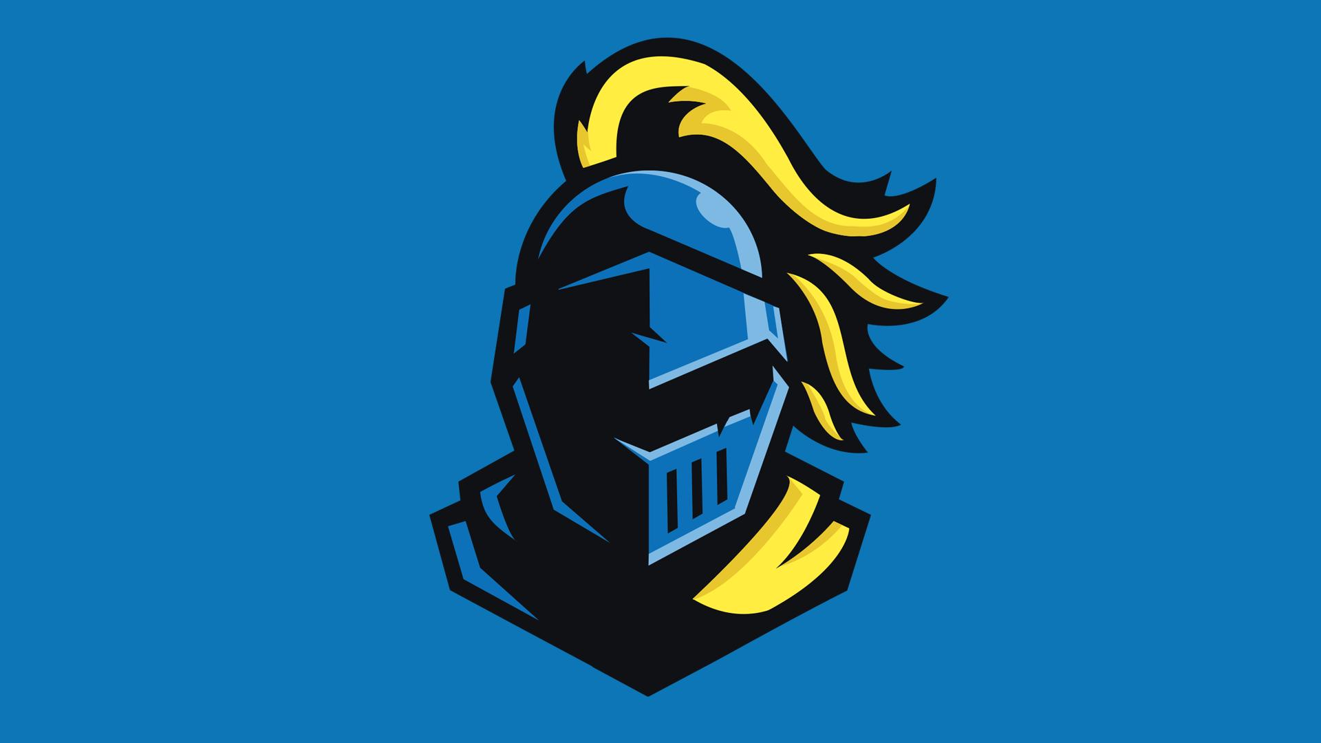 Blue knight mascot logo by VulcansHyper.