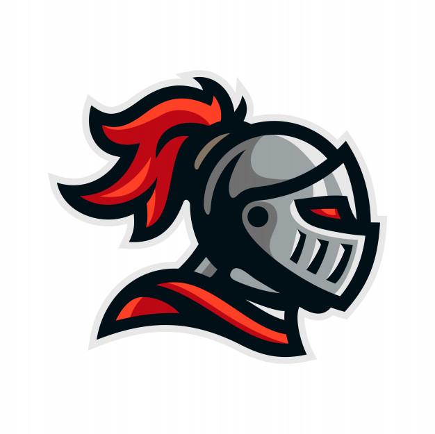 Knight warrior logo mascot template vector illustration.