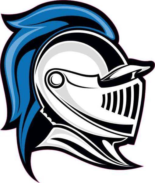 4 x 4.5 Right Blue Knight Mascot Sticker Vinyl School Sports.