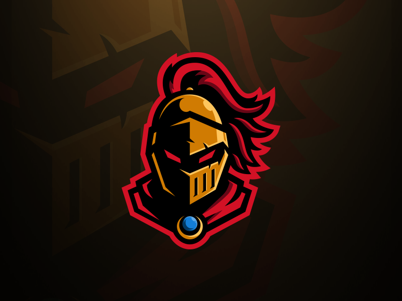 Golden Knight Mascot Logo by Tom Hayes for Visuals by.