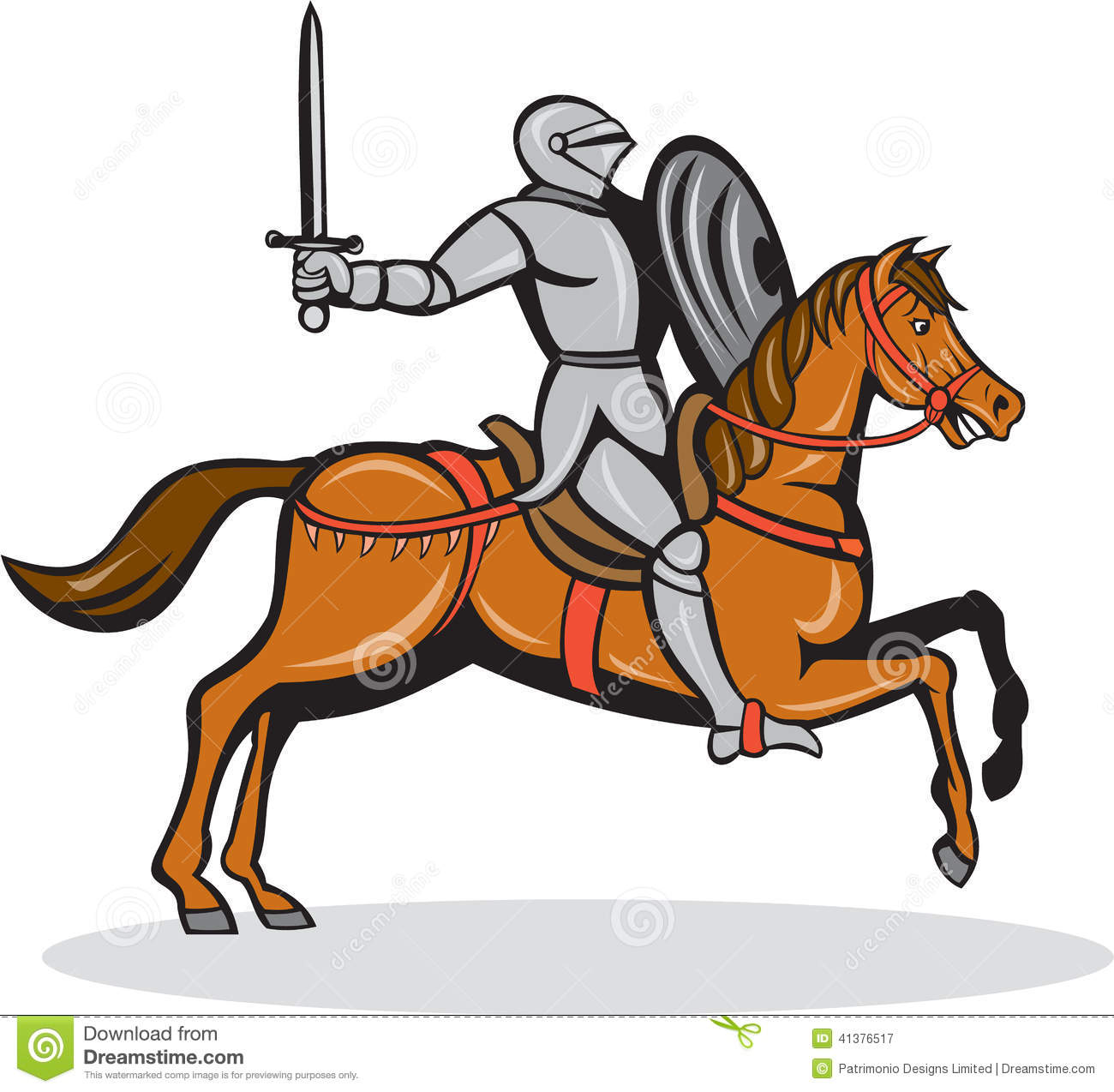 Knight Riding Horse Clipart.