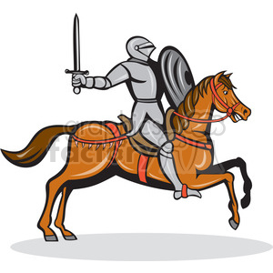 knight on horse shape clipart. Royalty.