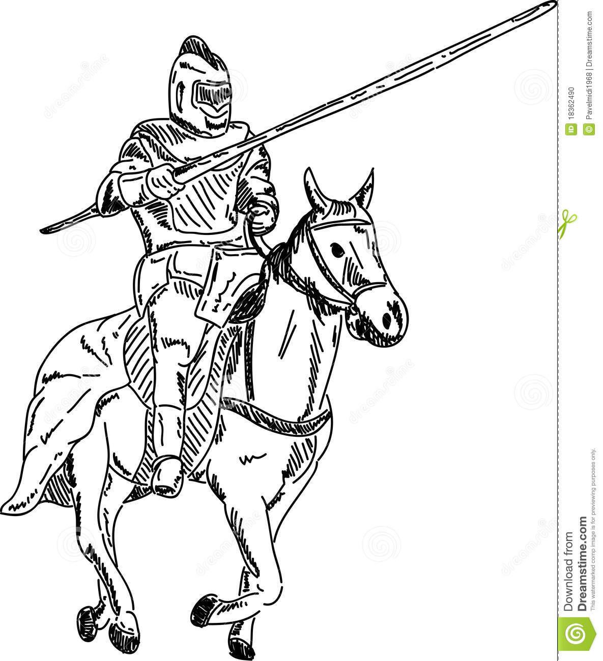 Knight On Horse Stock Photo.
