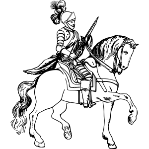 Knight on horseback 5 clipart, cliparts of Knight on horseback 5.