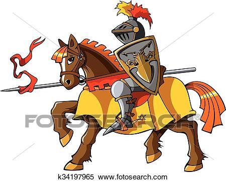 Rider knight Clipart.
