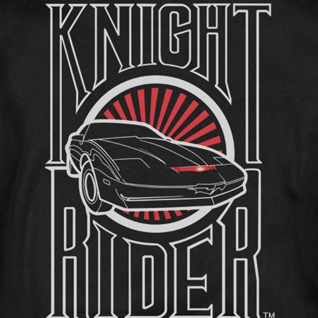 Knight Rider Logo Hooded Sweatshirt.