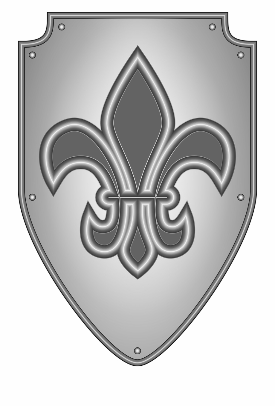 Heraldry Knight Medieval Shield Png Image.