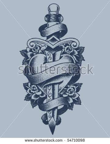 Heart Tattoo Stock Photos, Royalty.