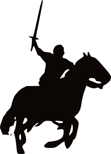 Knight on horse.