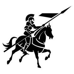 Knight On Horse Clip Art.