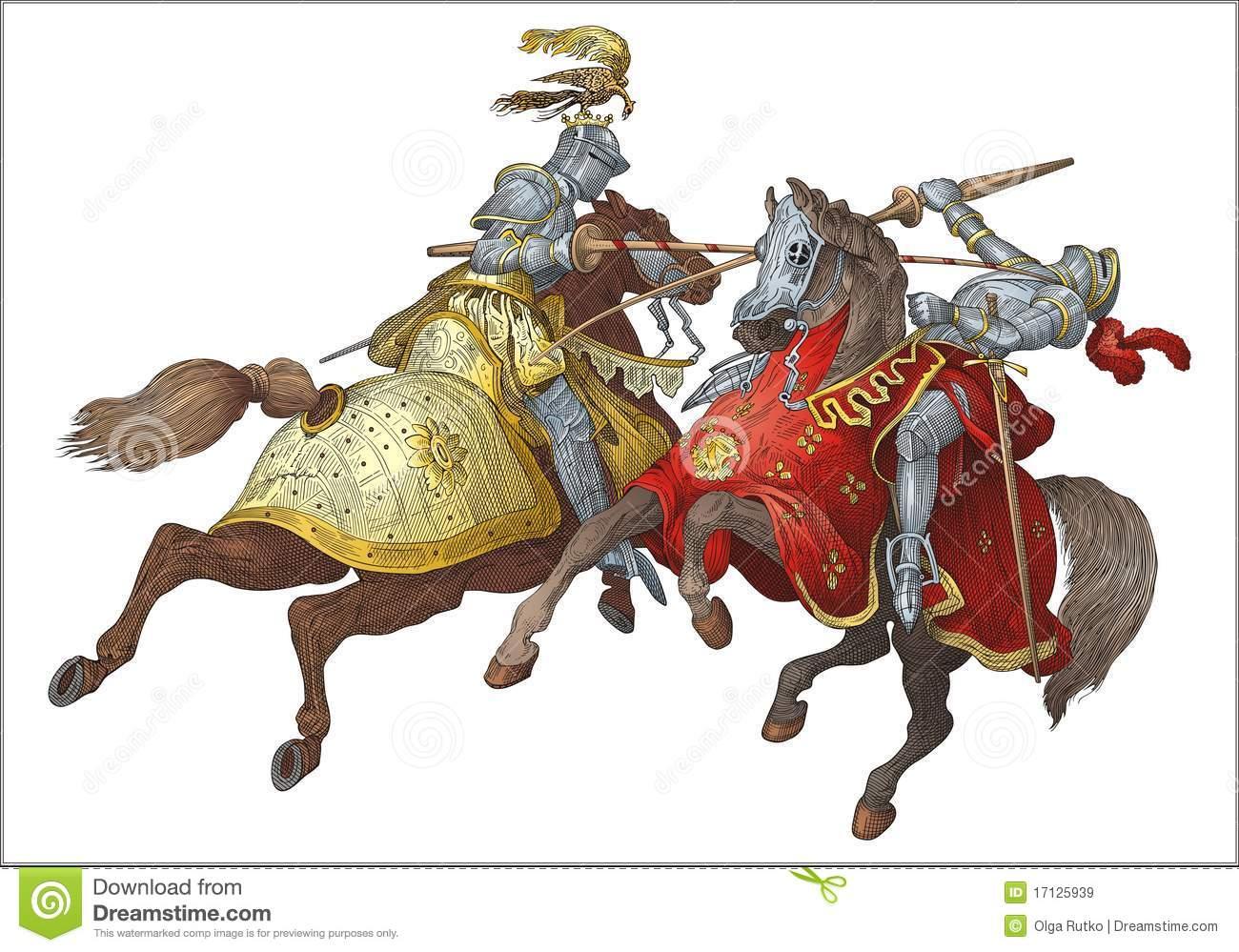Knights Stock Illustrations.