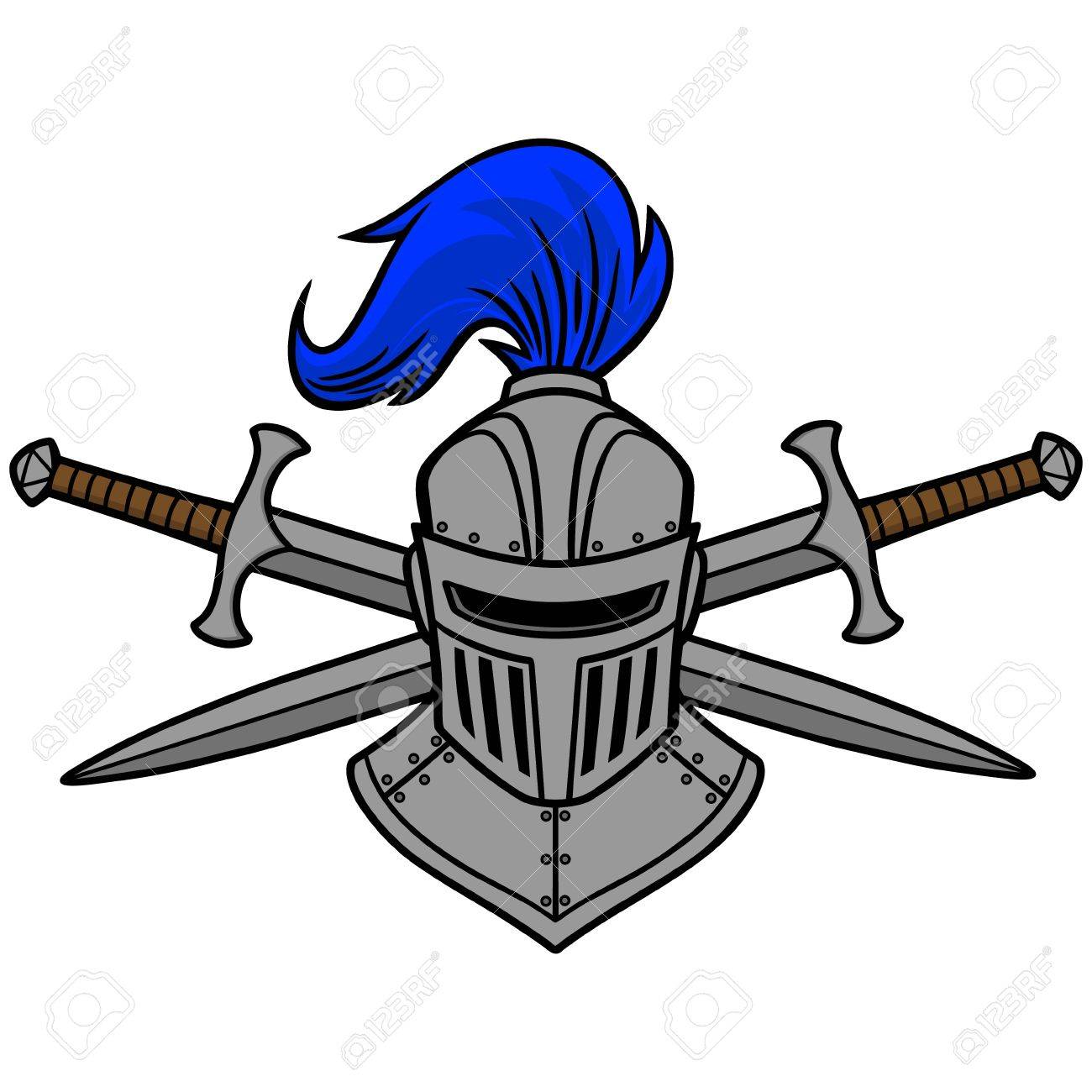 Knight Helmet and Crossed Swords.