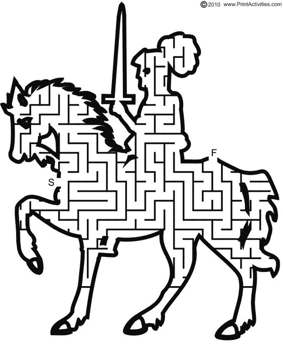 Knight on Horse Maze: Go from start to finish..