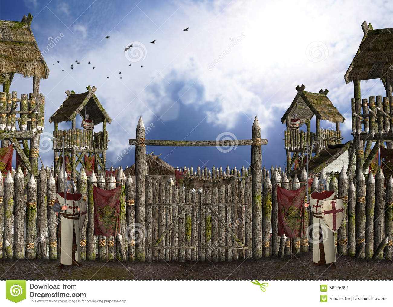 Medieval Camp Knights Stock Photos, Images, & Pictures.