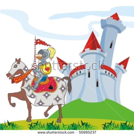 Knight Castle Stock Images, Royalty.