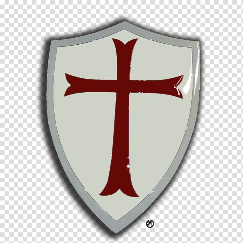 Middle Ages Crusades Knights Templar Shield, empty room transparent.