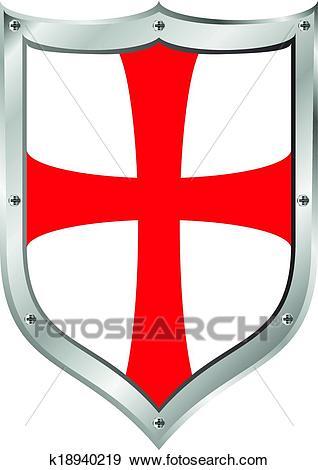 Knights Templar shield Clip Art.