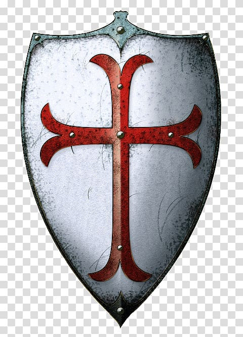Middle Ages Crusades Knights Templar Shield, Knight.