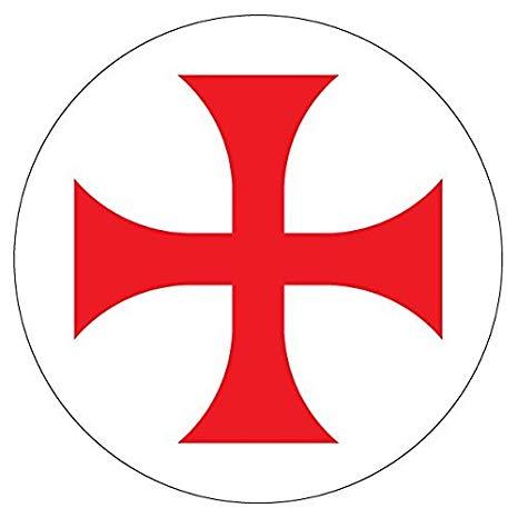 Amazon.com: hiusan 2 X Knights Templar Symbol Cross Vinyl.
