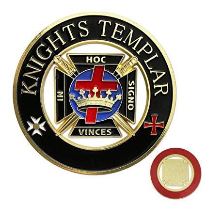 Knights Templar Masonic Auto Emblem.
