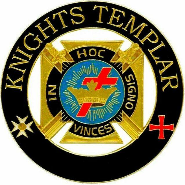 Freemasonry York Rite Deluxe Large Knights Templar Lapel Pin Regalia.