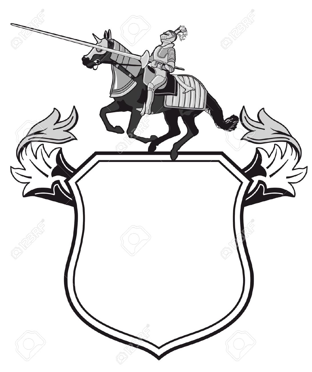 Knights Tournament Crest Royalty Free Cliparts, Vectors, And Stock.