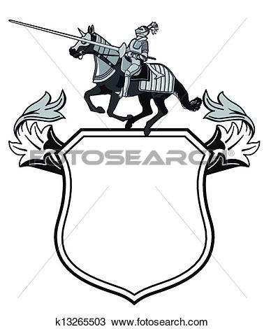 Clipart of Knights tournament crest k13265503.